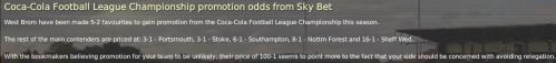 12 championship promotion odds