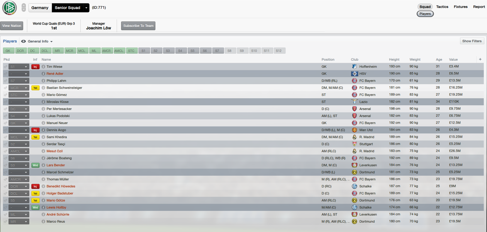 Download FM 2013 Real Names fix  Real players for Germany included