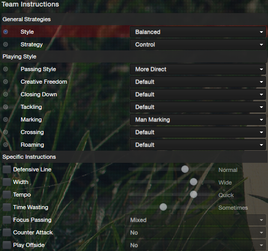 fm13 lower league 4-4-2 instructions control
