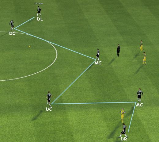fm14 tactic, 4-4-2, build up play
