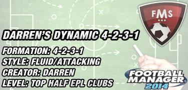 Best FM 2014 Tactics: Darren's Dynamic 4-2-3-1 ver 14 3 • FM