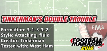 Best FM 2016 tactics Tinkerman Double Trouble