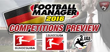 FM16 competitions preview Germany