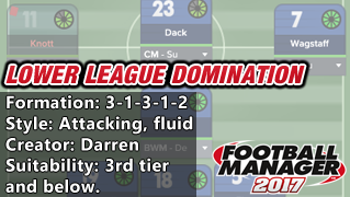 Best FM 17 Tactics: Lower League Domination From the Bottom