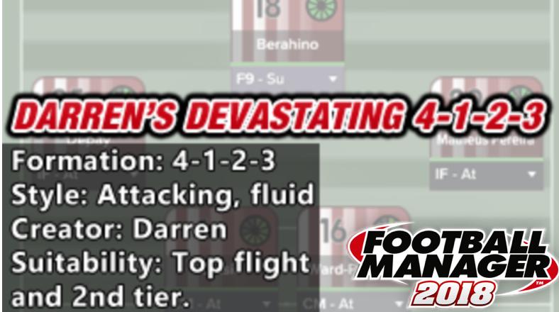best fm 2018 tactics darrens 4-1-2-3