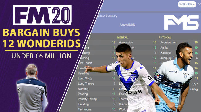 FM 2020 Cheap Players - 12 Wonderkids Under £6 million Feature