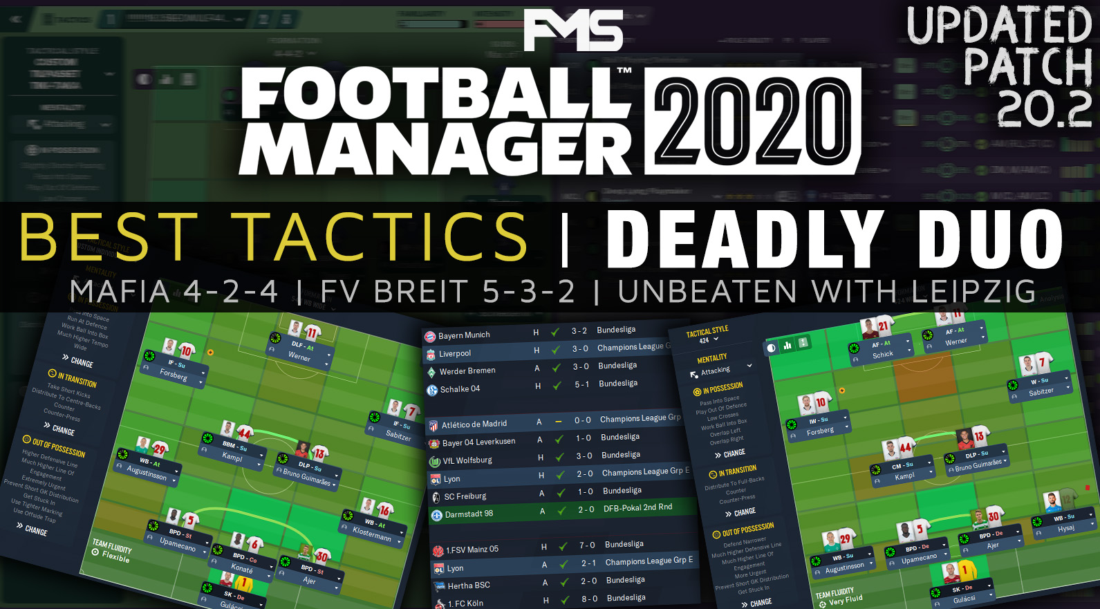 Best FM 2020 Tactics - Unbeaten Combo - feature