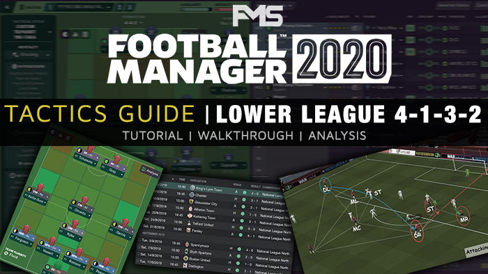 Football Manager 2020 Tactics Guide - Lower League 4-1-3-2 Tutorial & Analysis feature