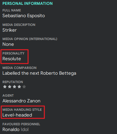 Football Manager player personalities guide