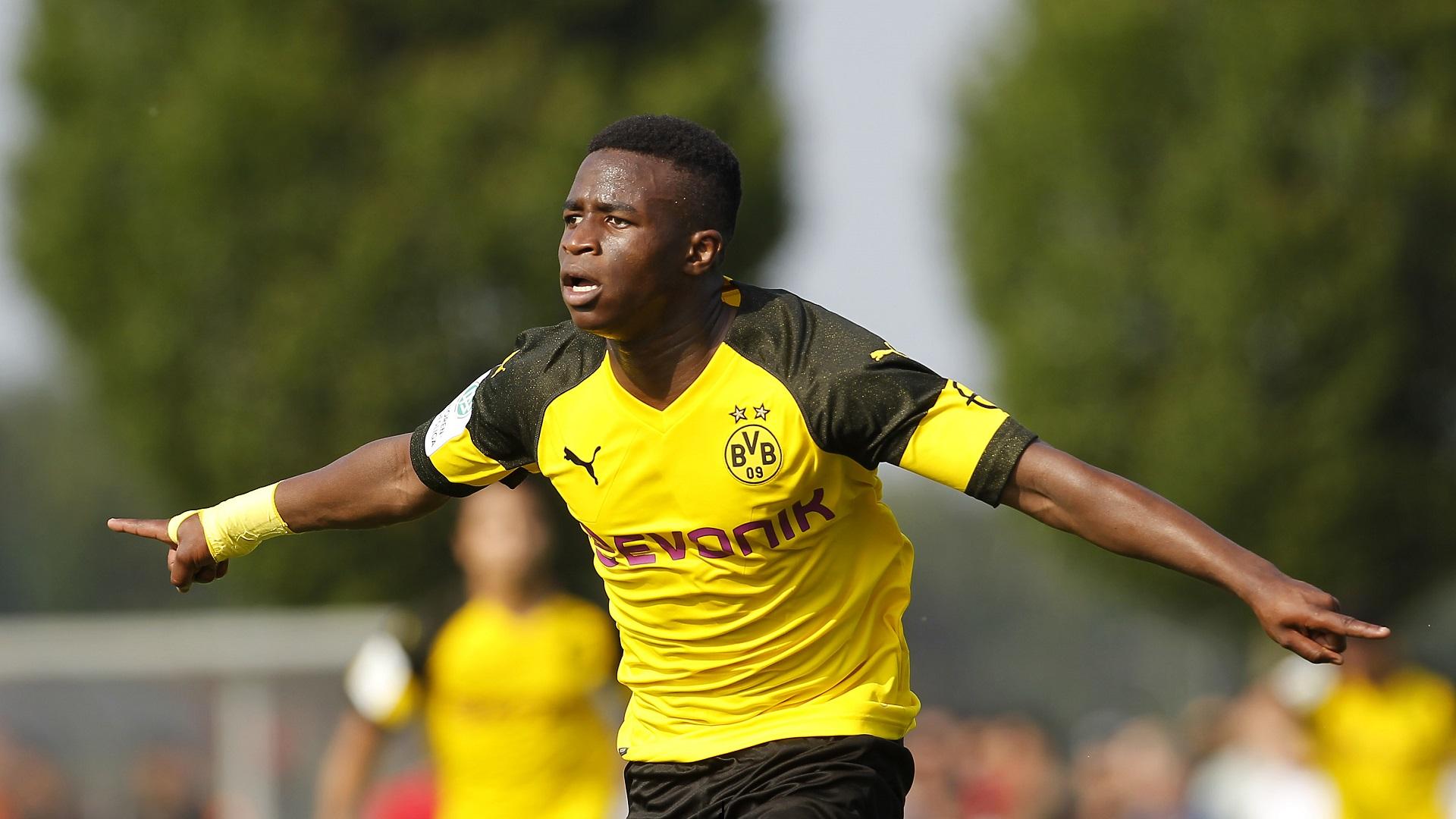 Youssufa Moukoko Borussia Dortmund 15 year old striker