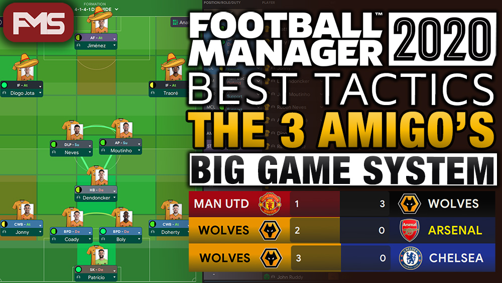 Best Football Manager 2020 Tactics - The 3 Amigo's feature