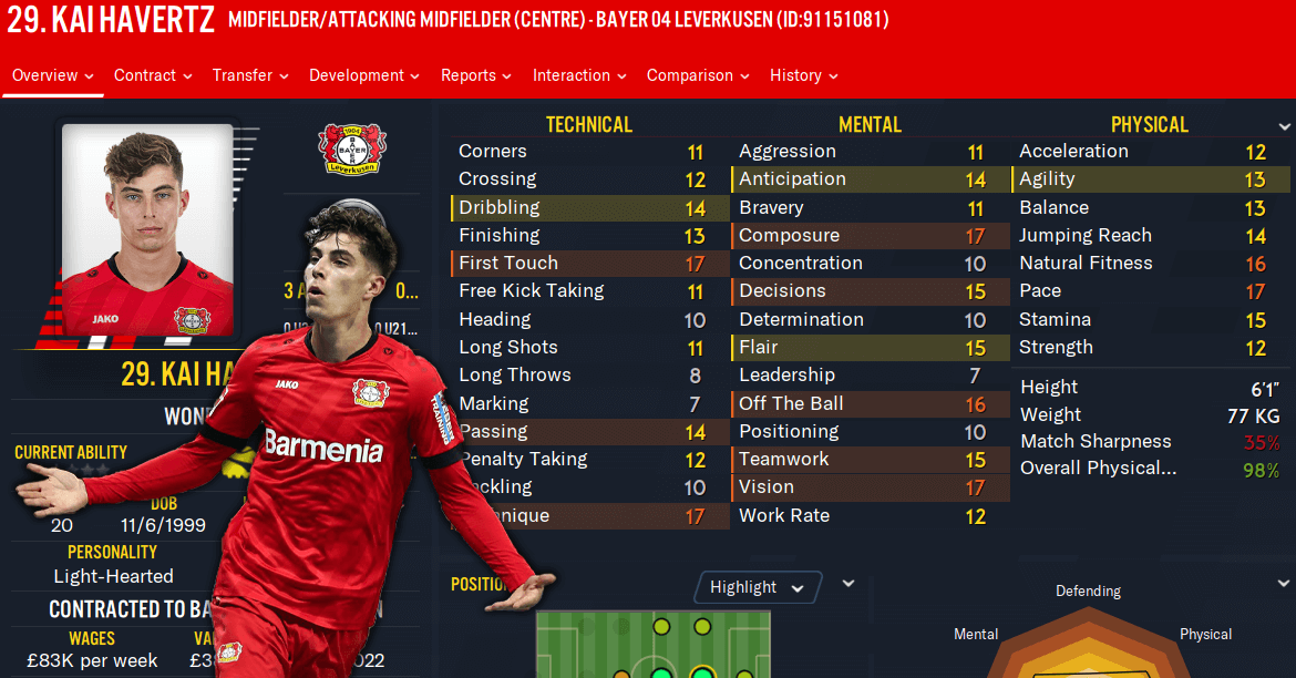 FM20 Wonderkid Kai Havertz feature