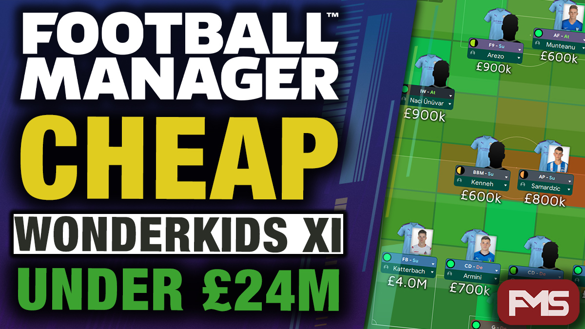 Football Manager 2020 Cheap Wonderkids XI feature