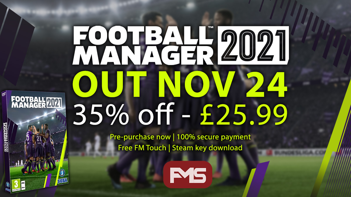 Buy Football Manager 2021 Cheap - FM21 Discount