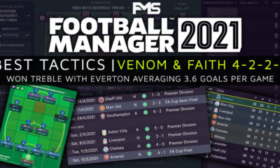 Best FM21 Tactics - Venom&Faith 4-2-2-2 - feature