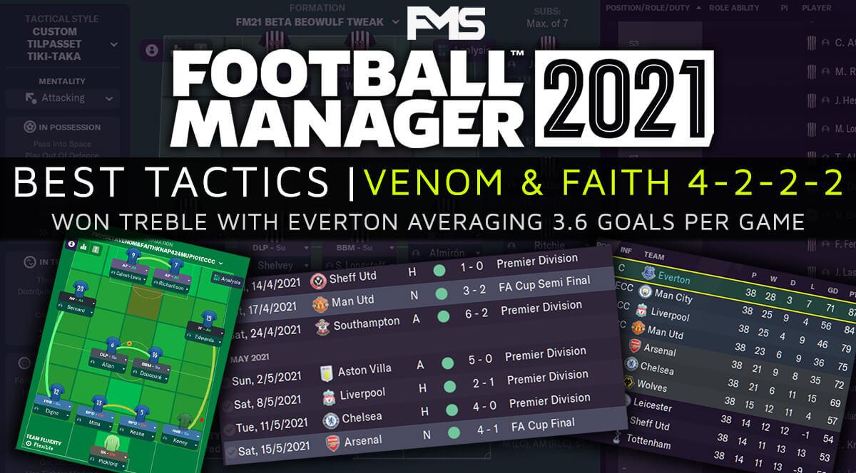 Best FM21 Tactics - Venom&Faith 4-2-2-2 - feature