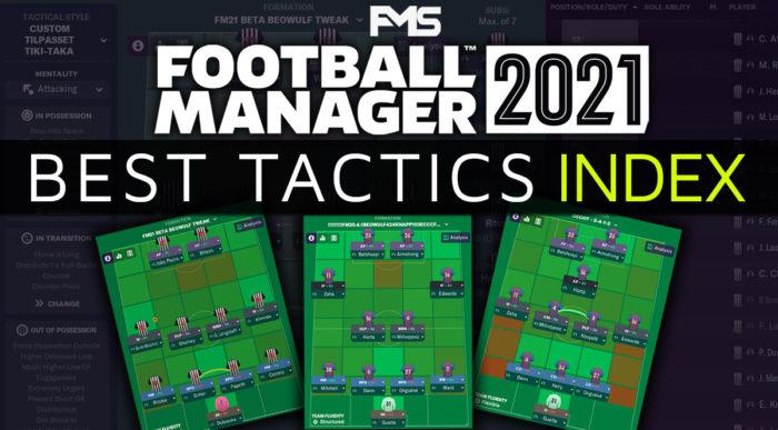 Best Football Manager 2021 Tactics Index