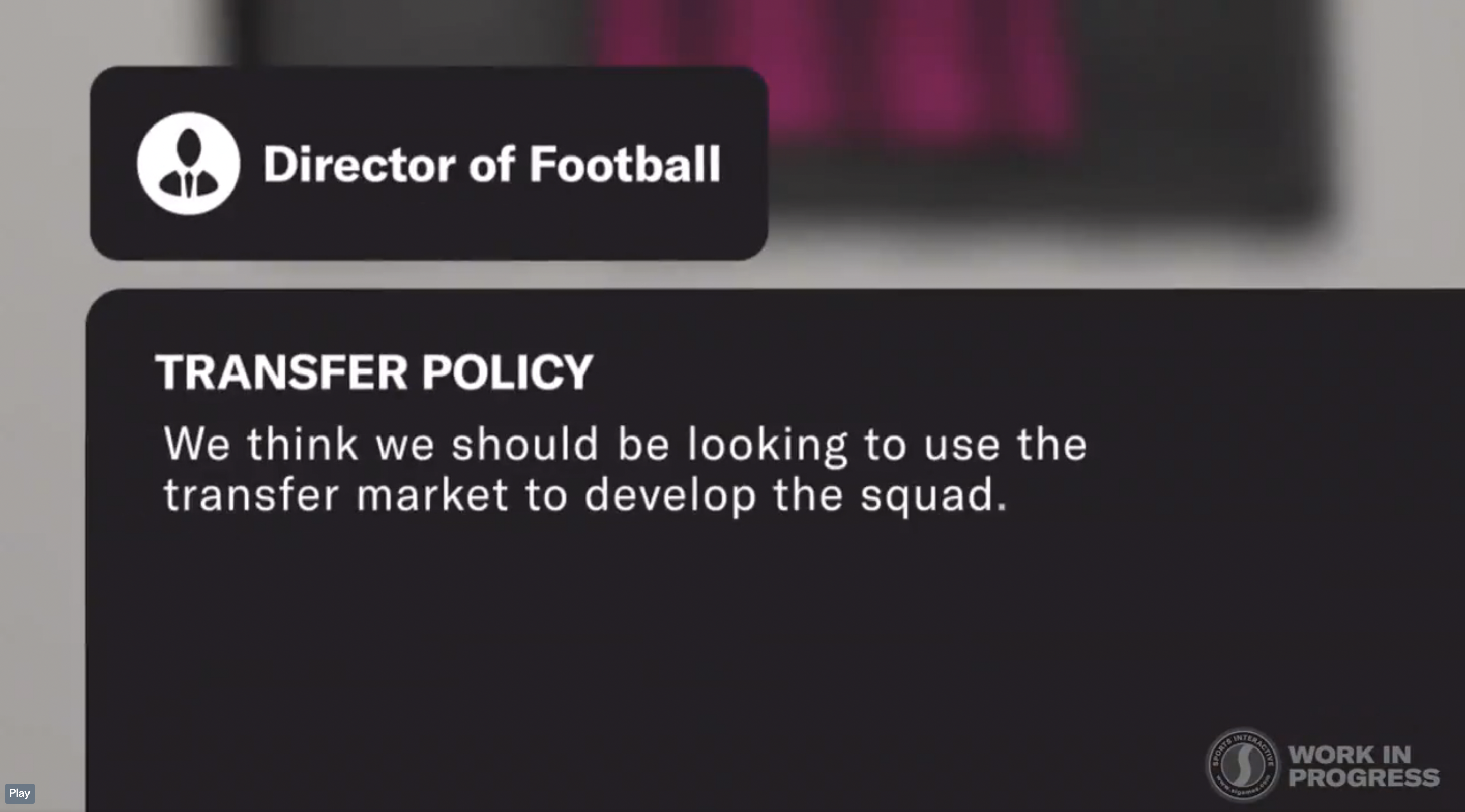 FM22 Work with Director of Football
