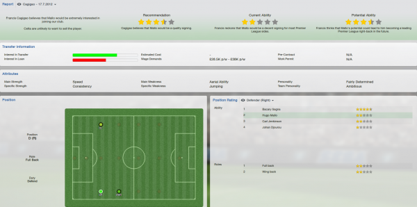 fm 2013 hugo mallo scout report
