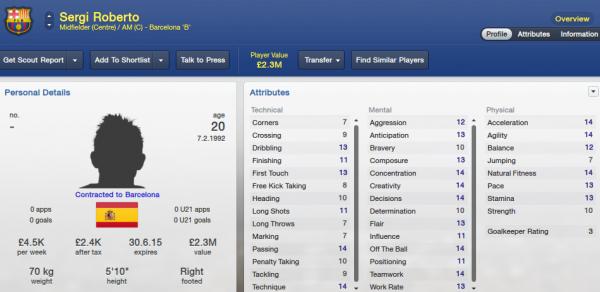 fm13 player profile, roberto2, 2012 profile