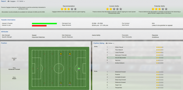Vincent Aboubakar fm 2013 scout report