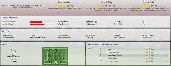 fm13 player profile, faraoni, scout report