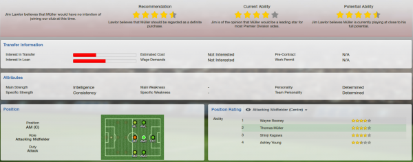 fm13 player profile, muller, scout report