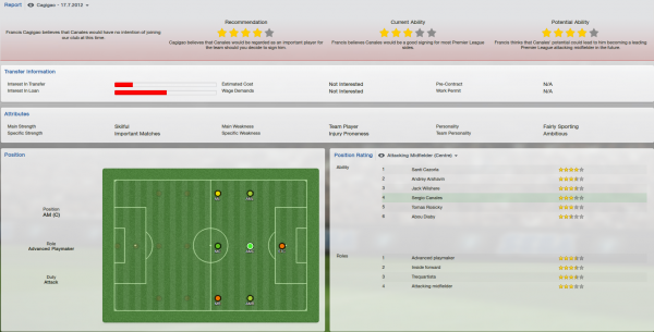 sergio canales fm 2013 scout report