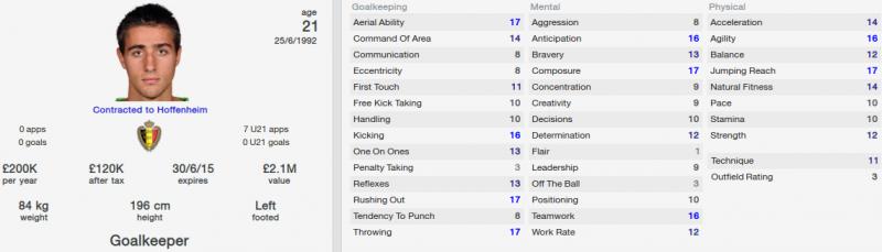 koen casteels fm 2014 initial profile