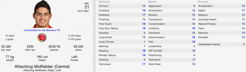 james rodriguez fm 2014 initial profile