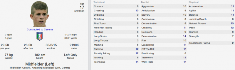 luca valzania fm 2014 initial profile