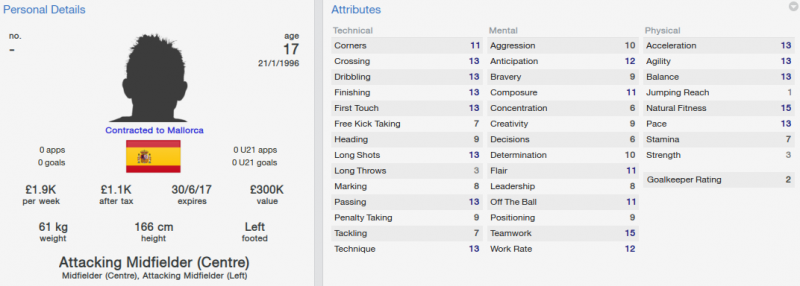 FM 2014 Marco Asensio initial profile