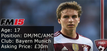 FM 2015 player profile of Gianluca Gaudino