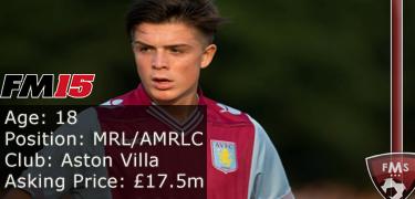 FM 2015 player profile of Jack Grealish