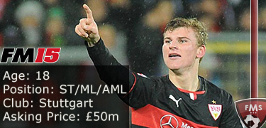 FM 2015 player profile of Timo Werner