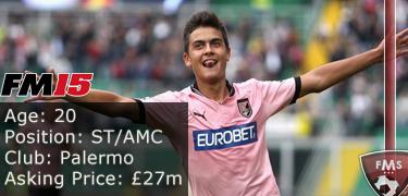 FM 2015 profile, Paulo Dybala image2