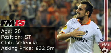 FM 2015 Player Profile of Paco Alcacer