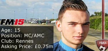 FM 2015 player profile of Nicolas Janvier