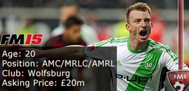 FM 2015 Player Profile of Maximilian Arnold