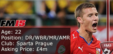 FM 2015 Player Profile of Pavel Kaderabek