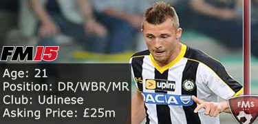FM 2015 Player Profile of Silvan Widmer