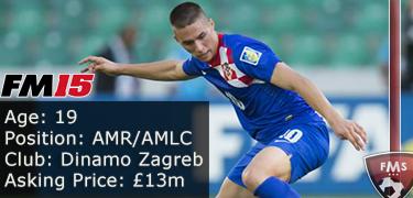 FM 2015 player profile of Marko Pjaca