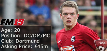 FM 2015 Player Profile of Mathias Ginter