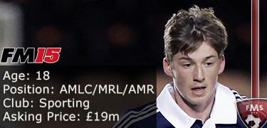 FM 2015 Player Profile of Ryan Gauld