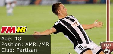 FM16 player profile, Andrija Zivkovic, image