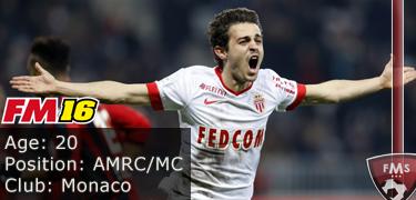 FM16 player profile, Bernado Silva, image