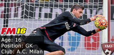 FM 2016 Player Profile of Gianluigi Donnarumma