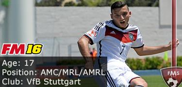 FM 2016 player profile of Arianit Ferati