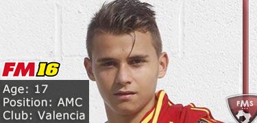 FM 2016 player profile of Fran Villalba