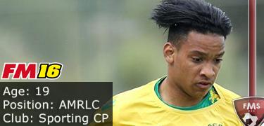 FM 2016 player profile of Matheus Pereira